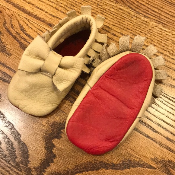 2f1d8162601 Baby RED BOTTOMS! 💯Genuine leather moccs size 4
